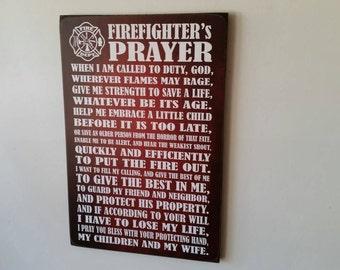 Firefighter's Prayer Decor, Firefighter Sign, Fireman, Firefighter, Firefighter Gift, Firefighter's Sign, Herosigns