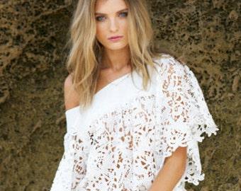 Lace Dress. Guipure lace dress. Boho dress. Romantic lace dress. Lace top. Romantic Lace dress. Wedding dress.