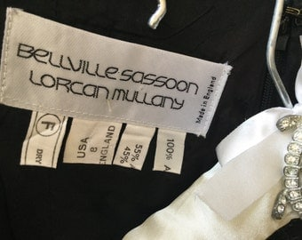 Vintage 1993 'Bellville Sassoon' by 'Lorcan Mullany' Classic Black Dress.    This designer designed for Princess Diana.