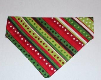 Holiday Spots and Stripes Bandana