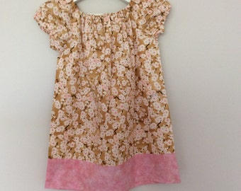 Size 3 and 4 peasant dress with short  sleeves