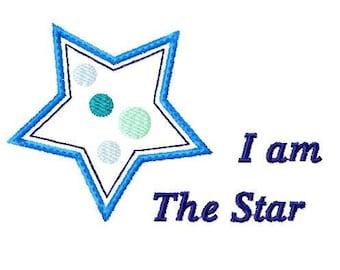 Applique Machine Embroidery Design Baby Star