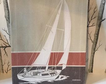 Vintage Marushka Sailboat Silkscreen on Canvas