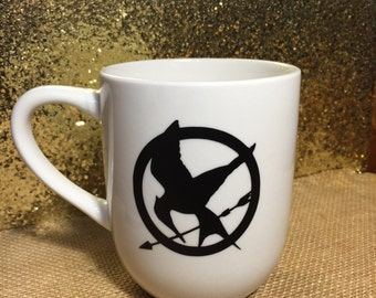 "Hunger Games "" mockingjay"" coffee mug"