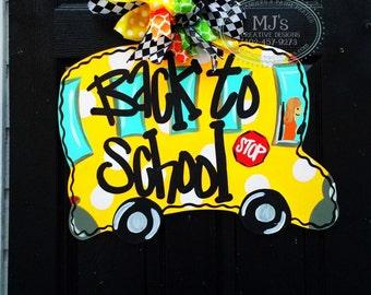 Teacher Gift - Teacher Door Hanger - Classroom Door decor - School Bus Door Hanger- Back to School