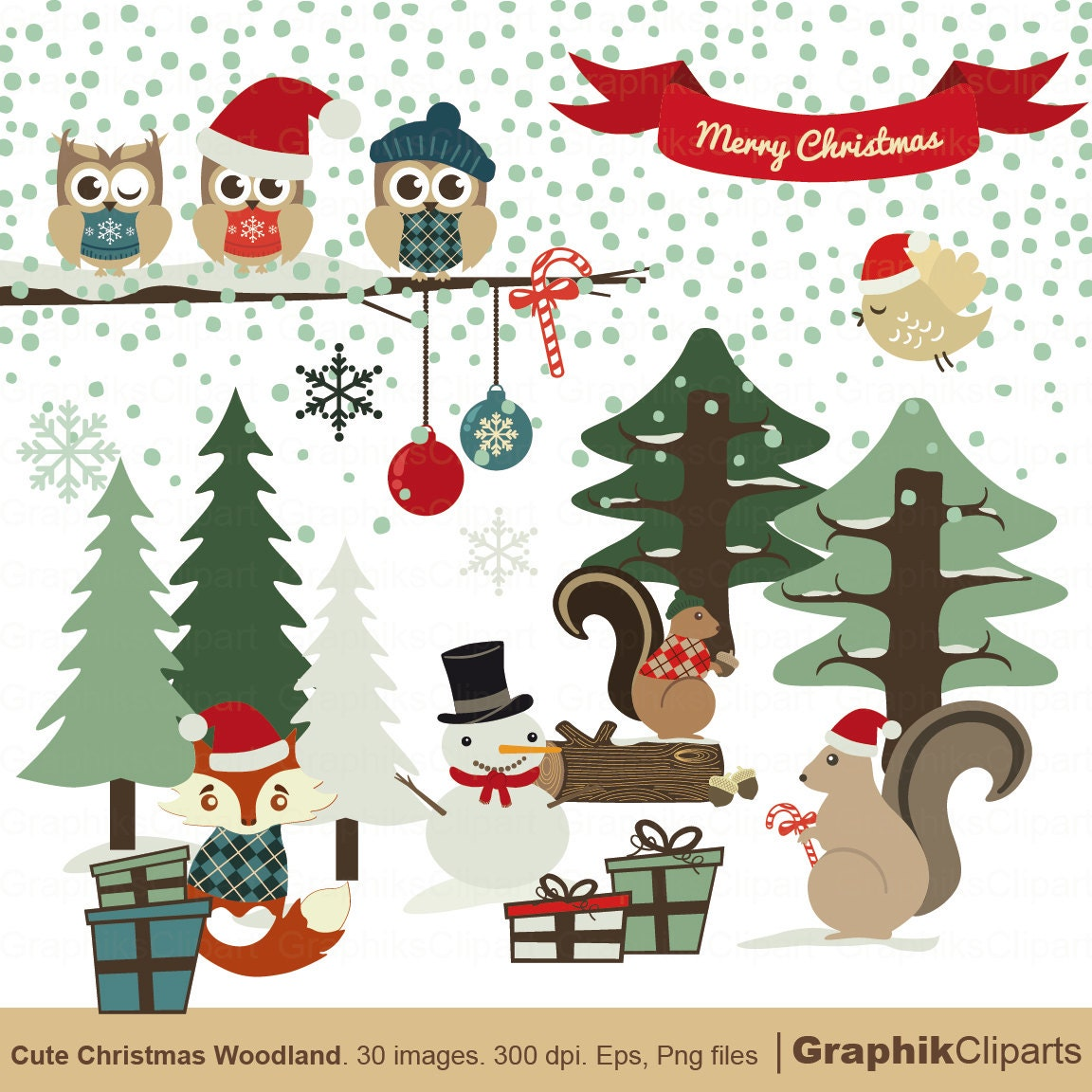 christmas clipart christmas penguins personal and limited