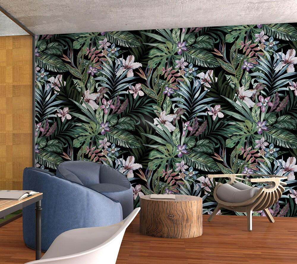 botanical removable wallpaper floral wallpaper peel u0026