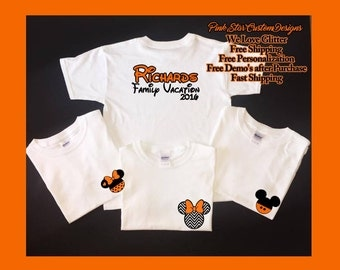 Halloween disney family shirts disney halloween shirts for Custom shirts fast delivery