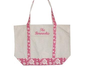 Canvas Tote bag, Monogrammed tote bag, Personalized canvas tote bag, Personalized Graduation Gift, Bridesmaid tote bag, Custom Beach Bag