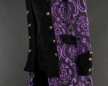 Womens Gothic Victorian Style Purple Pirate Princess Coat Steampunk Costume ~ Made to Order ~