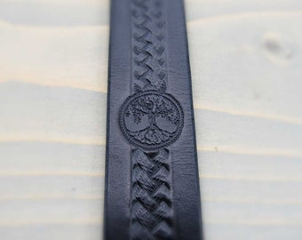Spiritual Bookmark,Tree of Life, Genuine Leather, Black Leather Book Mark, Birthday Gifts, Hand Made in Vancouver, Canada, in 7 colors!