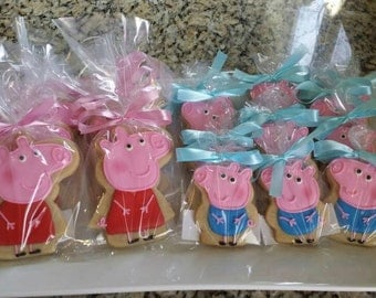 Peppa Pig Cookies-  George Pig and Dinosaur