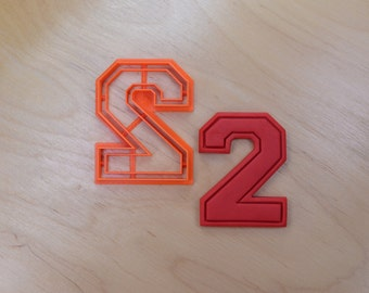 Varsity Number Two Cookie Cutter