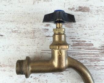 Vintage brass water tap - Soviet water tap