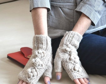 unique fingerless gloves christmas gift|for|women hand knit gloves arm warmers fingerless mittens wool gloves Wrist warmers mom gifts