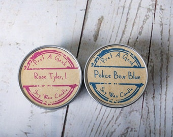 Fandom Soy Candles ~ Doctor Who Inspired  ~ The Doctor and Rose ~ 4oz Soy Candle