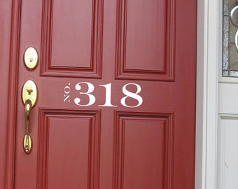House Numbers Modern Decal, Multiple Colors/Sizes, Numbers Decal, FAST SHIPPING
