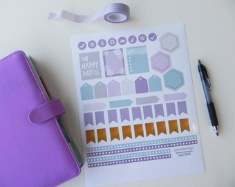 Inkwell A5 Printable Stickers \\ INSTANT DOWNLOAD \\ Great for your A5 Inkwell Press Planner