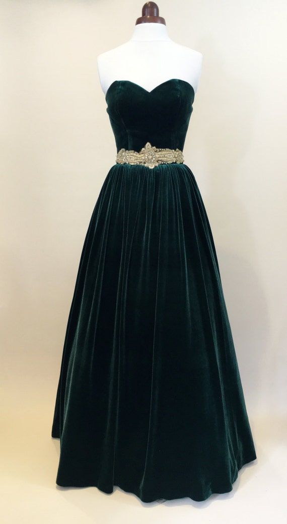 Green Prom Dress Ball Gown Evening Gown Party Dress Long