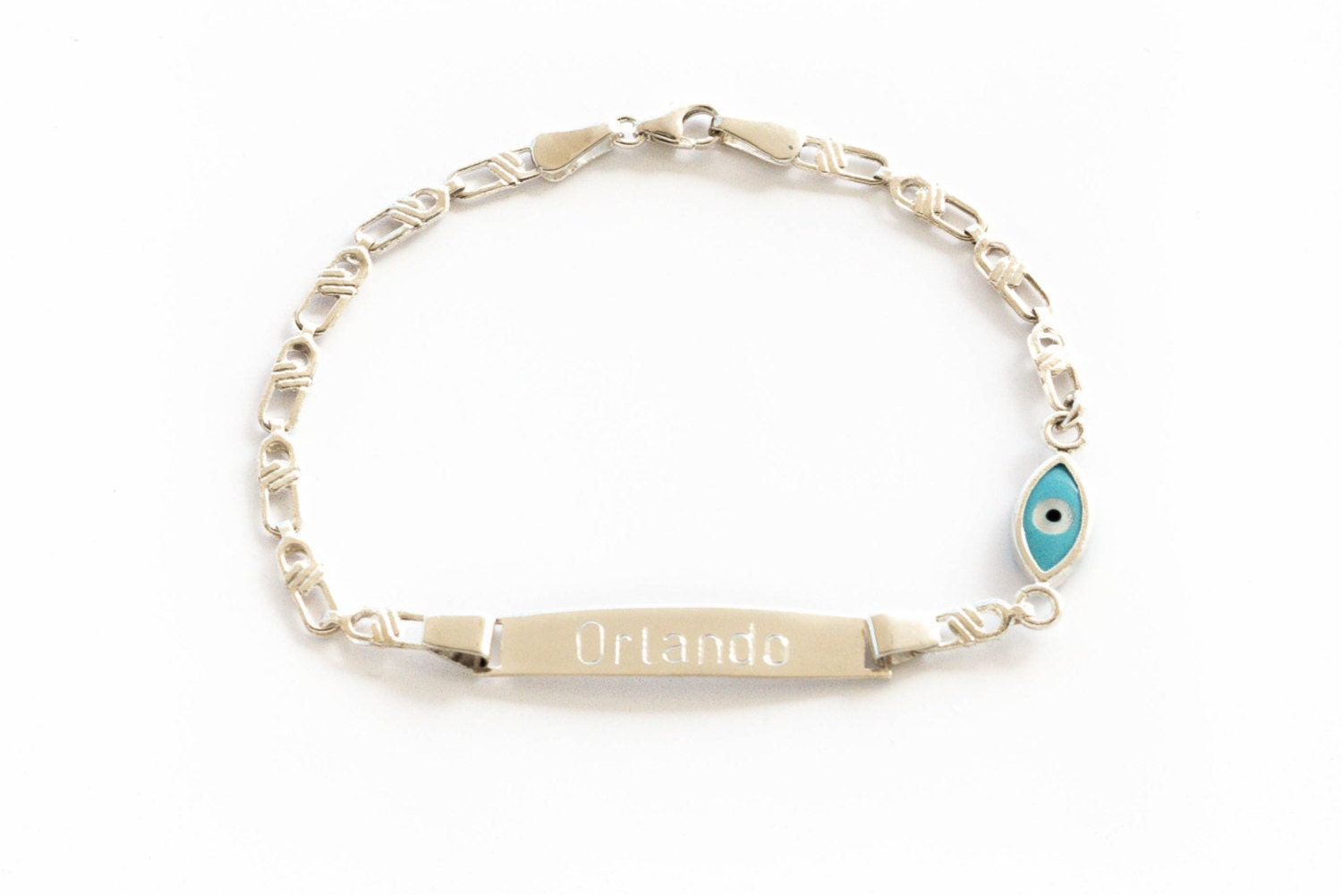 sterling silver baby id bracelet personalized engraved baby