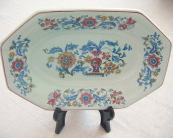 Calyx Ware Real English Ironstone Serving Plate by Adams, Vintage Pottery