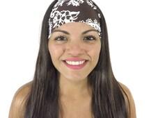 Running Headband Workout Headband Fitness Headband Yoga Headband Gym Headband Brown Boho Headband Fashion Headband Wide Head Wrap Turban S98