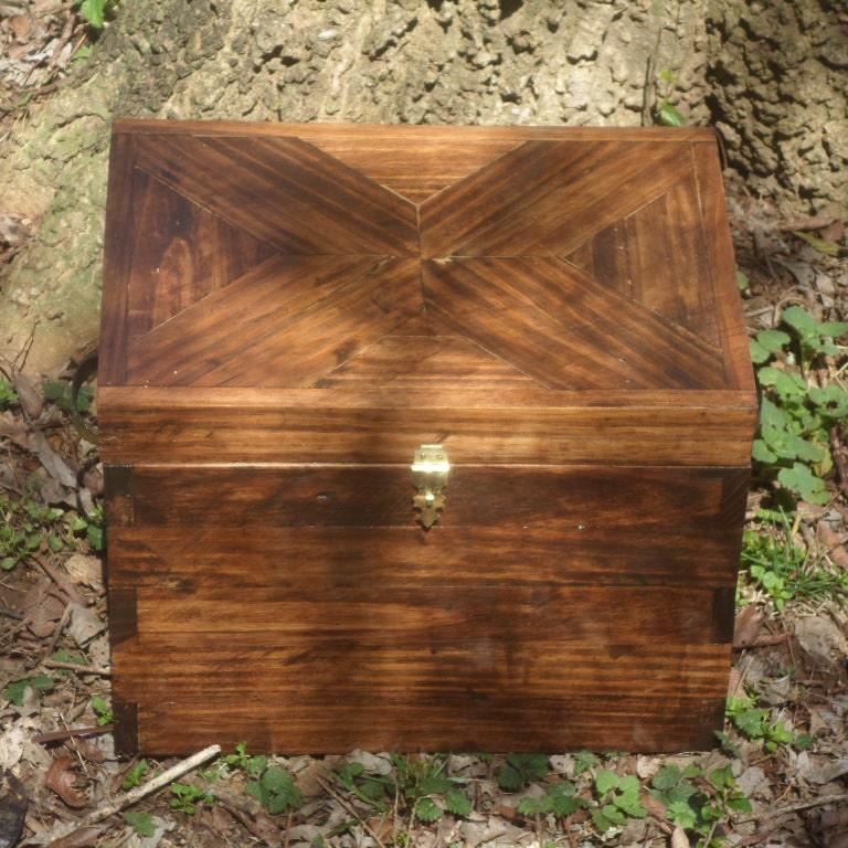 Memory Box Treasure Chest Wood Storage Container