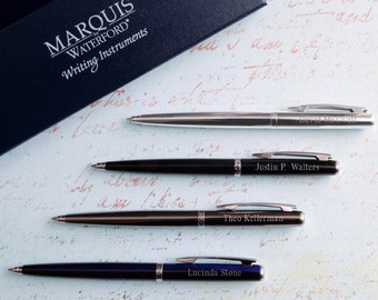 Personalized Waterford® Arcadia Ballpoint Pen - Ink Pen - Custom Engraved Pen