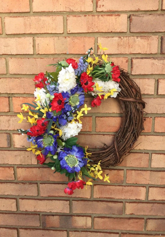 Front Door Wreath For Summer Outdoor Wreath By