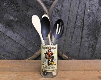 Captain Morgan's Rum Utensil Holder Perfect Guy Friend Gift, Christmas Gifts For Men, Gift For Him, Rum Present, Christmas Gift For Him