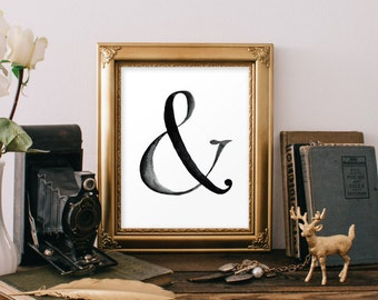 Ampersand wall art etsy for Ampersand decoration etsy
