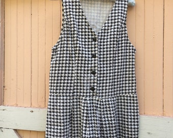 S A L E ...90's Vintage Denim Houndstooth Dress- Size M
