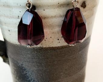 Purple Lucite Earrings