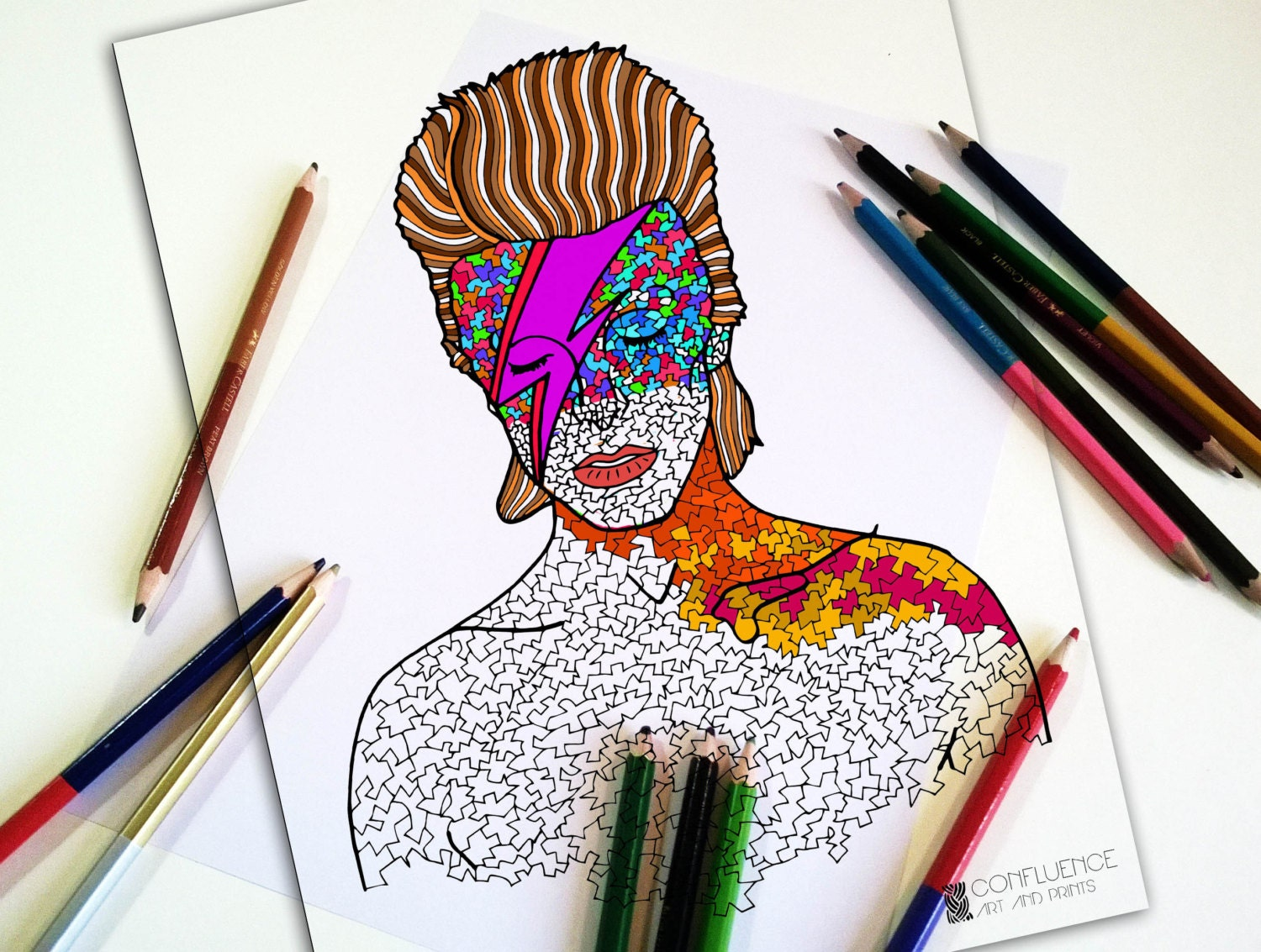 coloring pages coloring for adults david bowie