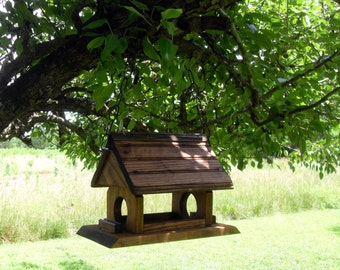 Wood Bird Feeder - Stained or Painted