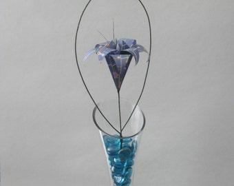 Origami Floral Arrangement - Blue Lily