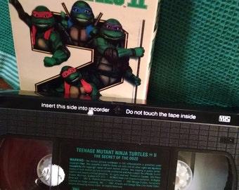 Teenage Mutant Ninja Turtles Movie VHS The Secret of the Ooze