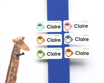 Waterproof kids name labels Daycare labels School labels Kids name stickers Personalized name label Preschool label Baby bottle labels