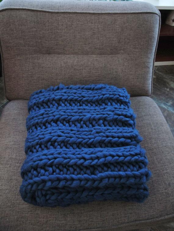 Extreme Knitting Blanket Pattern : Chunky Blanket Pattern - Knitting Throw Pattern - Extreme Knitting - Knit Blu...