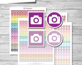 Photo Stickers, Printable Photo Stickers, Camera Planner Stickers, Printable Stickers, Camera Stickers, Photo Planner Stickers - PS46