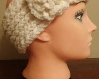 Cream headband/earwarmer