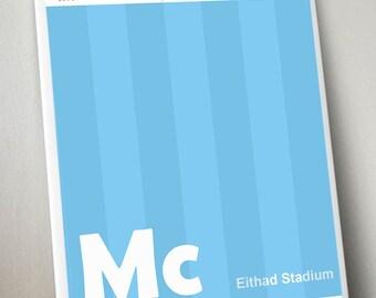 Manchester City A3 Art Print