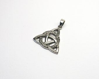 Silver 925 Celtic knot Celtic Trinity pendants Trinity triple node