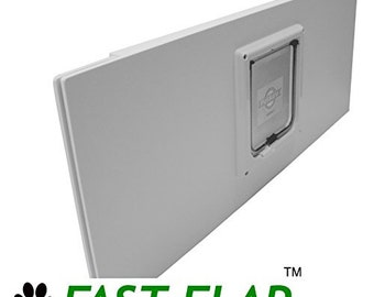 "FAST-FLAP Cat Door Window Insert with Locking Flap. 30""-36"""