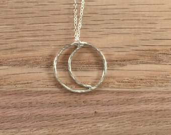 Crescent Moon Necklace - Sterling Silver