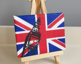 London / England Decopatch Mini Canvas & Easel or Magnet