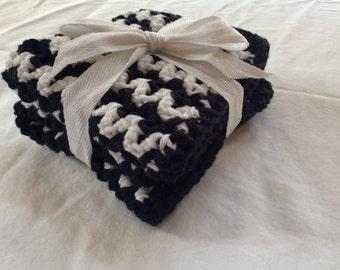 Crochet V-Stitch, ZigZag, Knit Chevron 100% USA Cotton Washcloths or Dishcloths