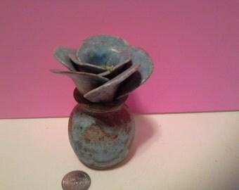 Metal vase