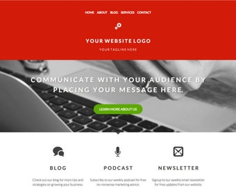 WordPress Homepage Template For Personal Brand or Digital Business Website