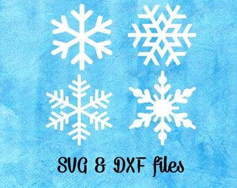 Snowflake SVG Cut Files, Christmas SVG, Silhouette DXF, Studio3 files, Snowflake Cricut downloads, Holiday Svg, Htv Iron On, Cricut Explore